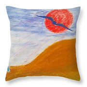 Acceptance Of Freedoms Wings Throw Pillow