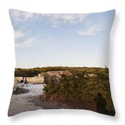 Access To The Beach Of Es Trenc Throw Pillow