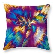 Acetaminophen Crystals Tem Throw Pillow