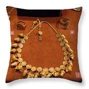 Acorn Necklace Throw Pillow