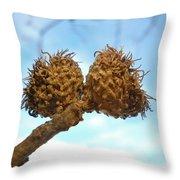 Acorns Have Left The Nest Throw Pillow