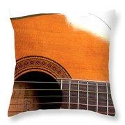 Acoustic Guitar 15 Throw Pillow