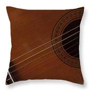 Acoustic Guitar 21 Throw Pillow