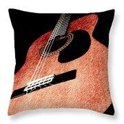 Acoustica Throw Pillow