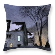 Across The Fence Throw Pillow