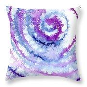 Acrylic Fractals Throw Pillow