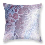 Acrylic Pour November 2001 Throw Pillow