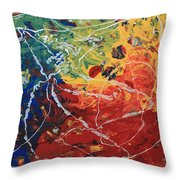 Acrylic  Poured  And  Dripped  2001 Throw Pillow