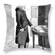 Adam Smith, Scottish Philosopher & Throw Pillow