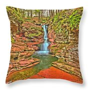 Adams Falls Throw Pillow