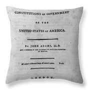 Adams: Title Page, 1787 Throw Pillow
