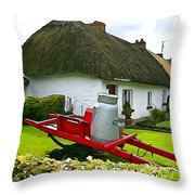 Adare Cottage Throw Pillow