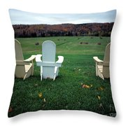 Adirondack Chairs Throw Pillow