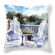 Adirondack Chairs Too Throw Pillow