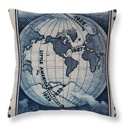 Admiral Richard Byrd Postage Stamp Throw Pillow