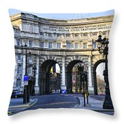 Admiralty Arch In Westminster London Throw Pillow