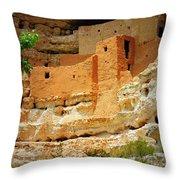Adobe Cliff Dwelling Throw Pillow
