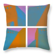 Adobe Walls Four-up Throw Pillow by Carol Leigh