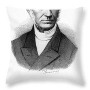 Adolphe Quetelet (1796-1874) Throw Pillow