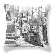 Adoration Of Relics Throw Pillow