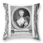 Adrienne Lecouvreur Throw Pillow