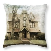 Adrienne's Bed And Breakfast Throw Pillow