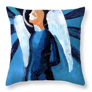 Adrongenous Angel Throw Pillow by Genevieve Esson