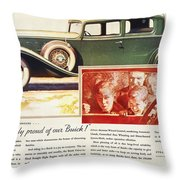 Ads: Buick, 1932 Throw Pillow
