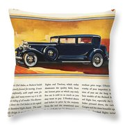 Ads: Packard, 1932 Throw Pillow