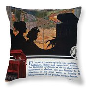 Ads: Phonograph, 1914 Throw Pillow