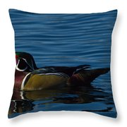 Adult Male Wood Duck Throw Pillow