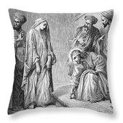 Adulterous Woman Throw Pillow