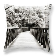 Adversity Is The First Path To Truth Throw Pillow