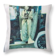 Advertisement Throw Pillow