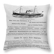 Advertisement: Steamship Throw Pillow