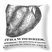 Advertisement: Strawberry Throw Pillow