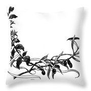 Advertising Art: Wreath Throw Pillow