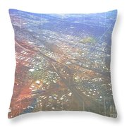 Aerial Graph Throw Pillow
