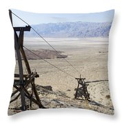 Aerial Once Used To Transport Gold Throw Pillow