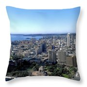 Aerial View - Sydney Harbour Throw Pillow