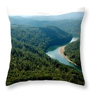 Aerial View Gauley River Throw Pillow