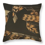Aerial View Of A Logging Mill Throw Pillow