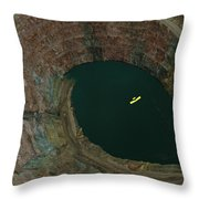Aerial View Of An Ultralight Plane Throw Pillow