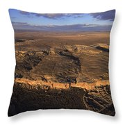 Aerial View Of Chaco Canyon And Ruins Throw Pillow