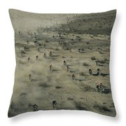 Aerial View Of Hundreds Throw Pillow