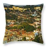 Aerial View Of Santiago De Cuba, Cuba Throw Pillow