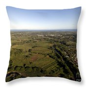 Aerial View Of The Coast Town Of Nadi Throw Pillow