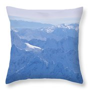 Aerial View Of The Snow-covered Julian Throw Pillow