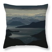 Aerial View Of The Sound Throw Pillow