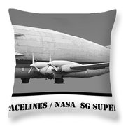 Aero Spacelines Super Guppy Drawing Throw Pillow